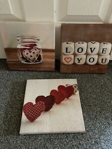 Home Deco Small Set 3 Canvas Wall Display Pictures