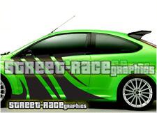Ford Focus 011 Cebra Tigre Rayas de Lados Calcomanías Pegatinas Gráficos ZETEC ST RS