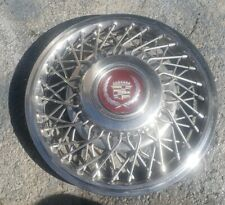 "OEM 1986-88 Cadillac Deville Seville Eldorado 14"" Wire Spoke Hubcap Wheel Cover"