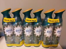 3 Twin Packs Limited Edition Febreze Air Fresh Cut Pine 8.8oz Spray Cans