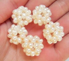 5 Pieces  3x4MM White Rice Pearl Bead