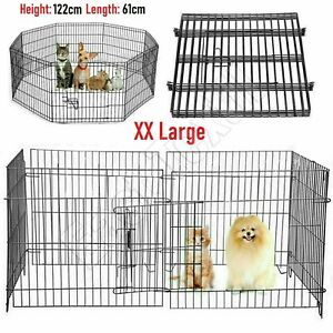Pet Fence Pen Puppy Dog Cat Rabbit Playpen Indoor / Outdoor Enclosures Run Cage,