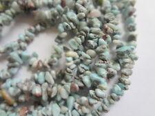 "Natural Larimar Small Chip Semi Precious Gemstone Beads, 34"" Inch Full Strand"