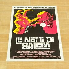 LE NOTTI DI SALEM manifesto poster Tobe Hooper 's lot Horror Vampiro Vampire C24