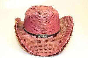 Ojeda Mens Medium Cinnamon Red Straw Cowboy Hat Handcrafted in Mexico