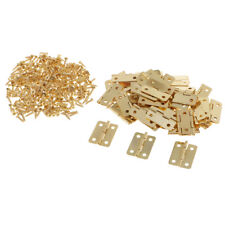 50 Sets Small Jewelry Box Hinges with Screws Cabinet Home Furniture Hinges