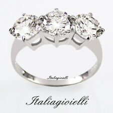 Imponente Anello Trilogy Donna in Argento 925 con Brillanti 5,82 Kt