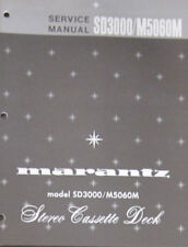 Marantz SD3000/M5060M cassette service repair workshop manual (original copy)