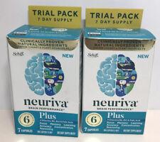 Neuriva Brain Performance Dietary Supplement 7caps,Lot of 2,exp11/2020 DamB 5517