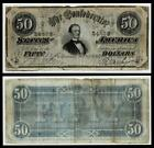 1864 $50 CONFEDERATE CIVIL WAR CURRENCY ~VERY FINE for sale
