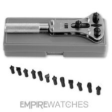 * NUOVO * Watch Back Case Opener Wrench Tool Set-RRP Â £ 20