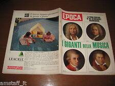 EPOCA 1962/633=SPECIALE MUSICA OPERA=GUGLIELMO MARCONI=BILL LANCASTER=FELLINI=