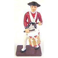 American Revolution Colonial Drummer Metal Painted 1/32 Soldier Britains Type