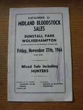 27/11/1964 Horse Racing: Midland Bloodstock Sales, At Dunstall Park Wolverhampto