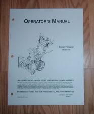 MTD 640 SNOW THROWER OPERATORS MANUALWITH ILLUSTRATED PARTS LIST