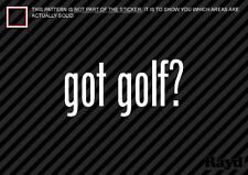 (2) Got Golf Sticker Decal course club iron