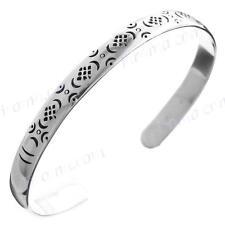 STUNNING BALI ETHNIC 925 STERLING SILVER CUFF bracelet