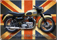 A3 LARGE SIZE TRIUMPH THUNDERBIRD MOTORCYCLE METAL SIGN