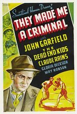 They Made Me a Criminal 1939  John Garfield, Ann Sheridan Crime Drama DVD