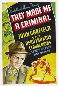 They Made Me a Criminal 1939  John Garfield, Ann Sheridan Crime Drama DVD