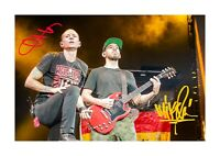 Chester Bennington & Mike Shinoda (2) A4 signed poster. Choice of frame
