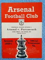1951 - ARSENAL v PORTSMOUTH PROGRAMME - FIRST DIVISION 50/51 (a)