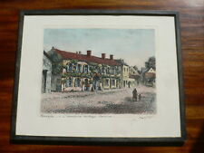 Maurice Jacques ORIGINAL HAND COLOURED ETCHING Signed Barbizon (see details)