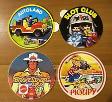 lot de 4 autocollants jouets miniatures MATTEL POLISTIL AUTOLAND