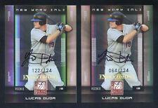 (2) 2008 Donruss Elite Extra Edition Autograph LUCAS DUDA SP RC AUTO LOT #'d/124