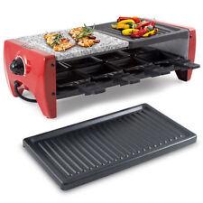 Raclette Con Piastre In Alluminio Ghisa Pietra Ollare Per 8 Persone Beper 90.381