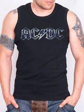 ACDC LOGO Tank Top Men Black Rock Athletic Vest Rock Band Shirt