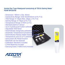 Azzota 3 in 1 WPCM-40 Pen Type Waterproof conductivity & TDS & Salinity Meter