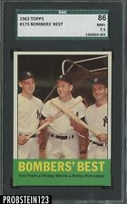 1963 Topps #173 Bombers' Best Mickey Mantle SGC 7.5 HOF Centered Yankees