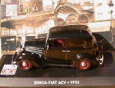 SIMCA FIAT 6CV 1935 NOIRE IXO ALTAYA 1/43 BLACK NEGRA SCHWARZ LHD LEF HAND DRIVE