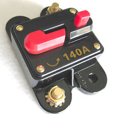 12 Volt Car Audio 140 AMP Circuit Breaker with Reset up to 1400 watts stereo