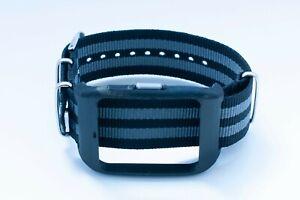 Sony SmartWatch 3 SWR-50 housing/adapter with black/grey James Bond NATO strap