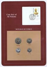 Republic of Cyprus 4 pc Mint Set BU 1982 Coin Sets of All Nations stamp