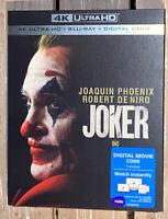 *Joker* (4K Ultra HD+ Blu-ray+ Digital) Slipcover Brand NEW~Joaquin Phoenix~