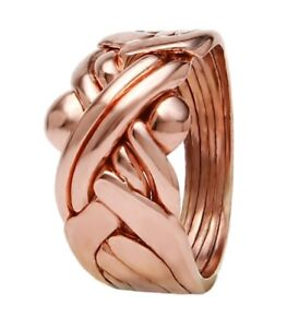 3 5 Tage Lieferung Puzzle Ring 925 Bronz 6 teiliger pusselring