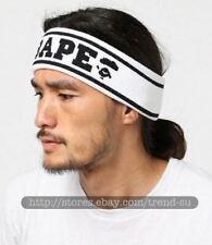A Bathing Ape Bape White Outdoor Sport Headband Hairband Scarf Elastic Tennis