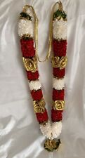 Indian Bollywood  (asian)  Artificial Flowers wedding garlands Red Ivory Gold