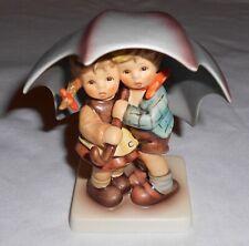 "Original Goebel Hummel Figurine "" Sunshower "" Under Umbrella #634 ~ Excellent"