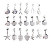 20PCS Silver Tone Mixed Clip On Charms Fit Chain Bracelet #91829