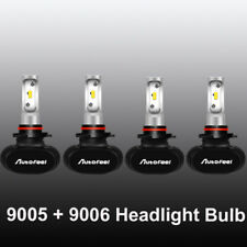 9005+9006 Combo 160W 16000LM LED Headlight Kit High/Low Beam Super Bright Bulbs