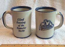Vintage 1996 122nd Kentucky Derby Louisville Stoneware Coffee Mug Cups Lot of 2