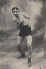 Boxe Sport Boxeur à identifier Vintage argentique silver print ca 1910