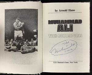 Muhammad Ali Signed Book The Champion HCB Boxing Greatest Autograph HOF PSA/DNA