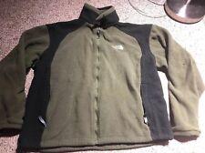 The North Face Dark Green Men's L Zip Warm Winter Fleece Jacket FLAWS**