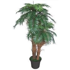 Palmizio Palma Cocco Pianta Albero Artificiale 170cm Legno Naturale Decovego