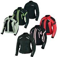 Motorrad Schutz Jacke für Damen Motorrad Roller Sommer Jacke Schwarz Gr XS-2XL